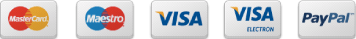 payment methods - mastercard, maestro, visa, paypal,