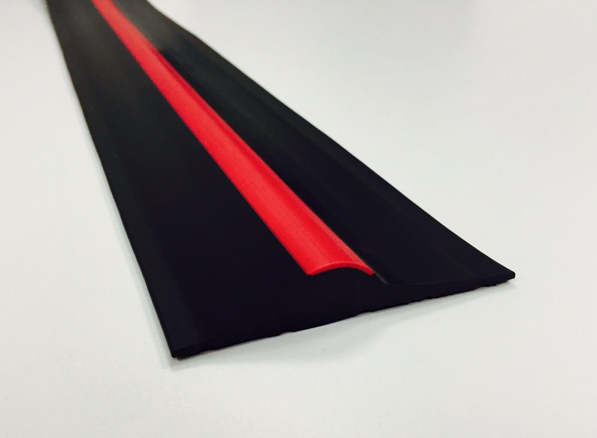 15mm Black Red Stripe Rubber Threshold Seal Ja Seals