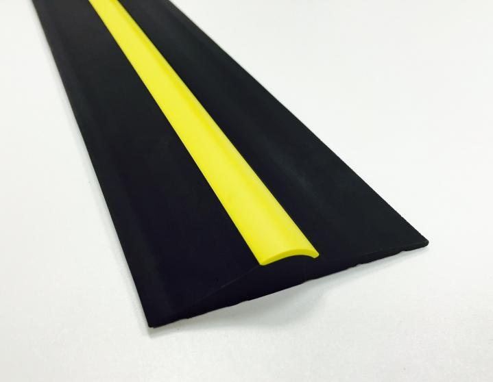 15mm Black/Yellow Stripe Rubber Threshold Seal  1