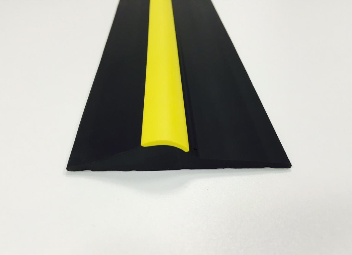 15mm Black Yellow Stripe Rubber Threshold Seal Ja Seals
