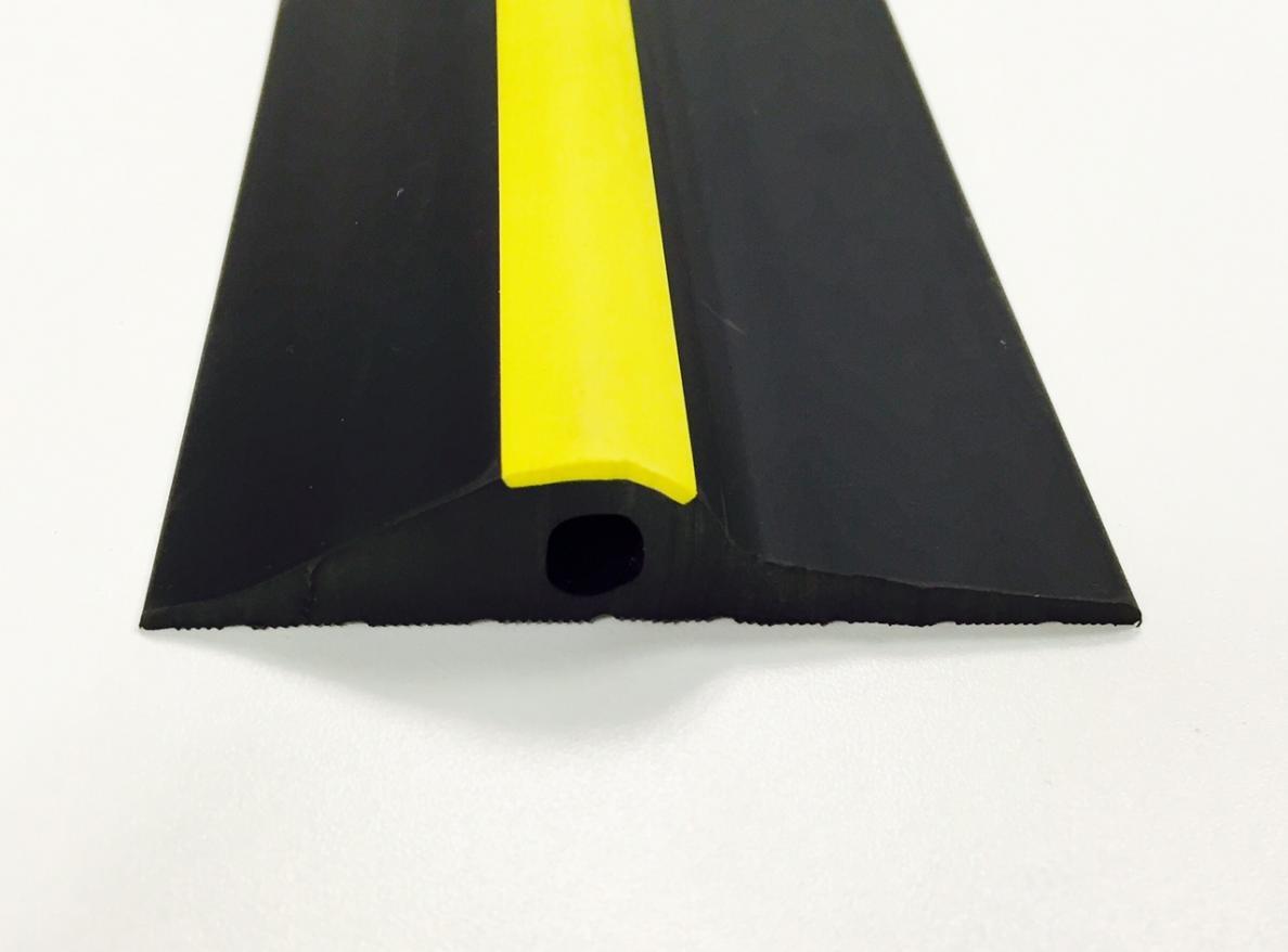 20mm Black Yellow Rubber Threshold Seal Ja Seals