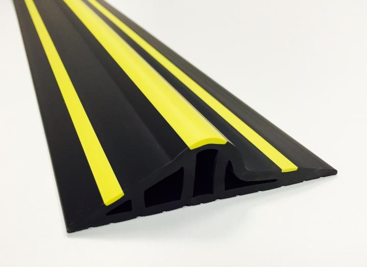 30mm Black / Yellow Rubber Garage Threshold Seal 1