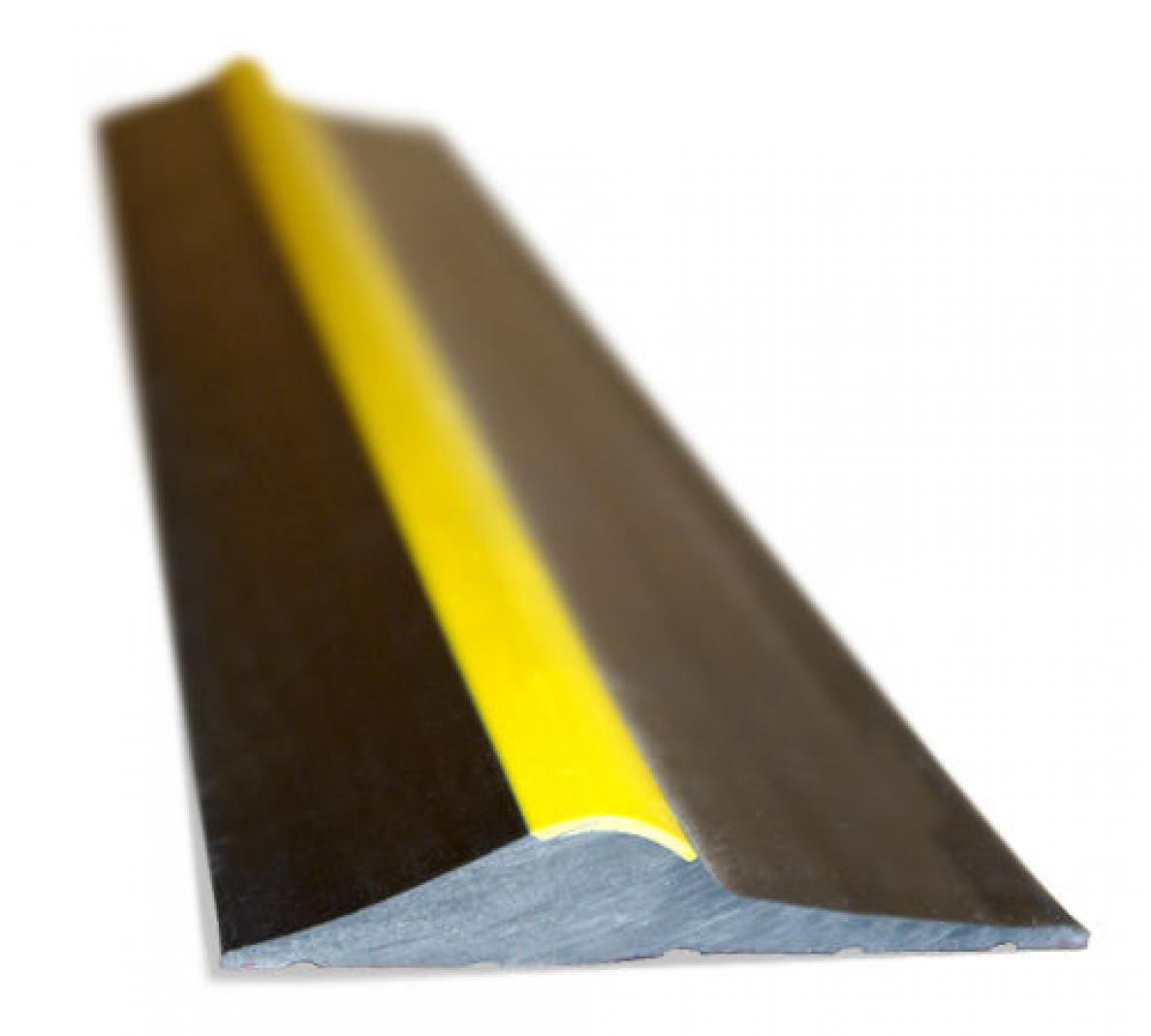 15mm Black Yellow Hi Vis Rubber Garage Threshold Seal Ja