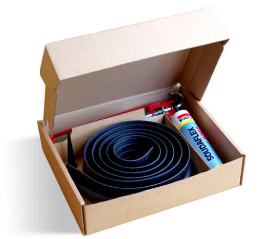 15mm Rubber Floor Seal Kit Black 1
