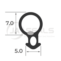 Window & Door Bubble Gasket Seal B006